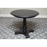 Image of Ethan Allen New Country Black Pedestal Side Table