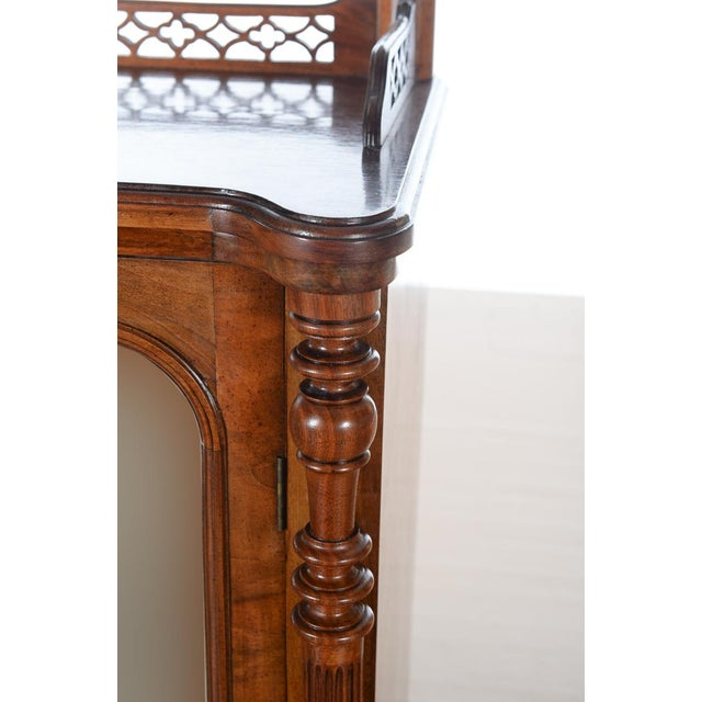 Antique Carved Mahogany Music Cabinet - Image 5 of 10