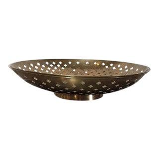 Vintage Brass Etched Decorative Tabletop Bowl