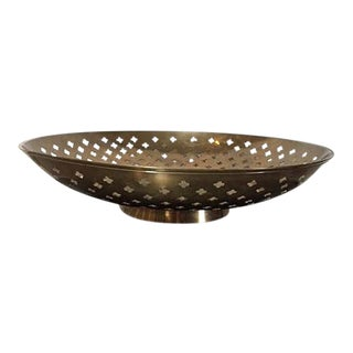 Vintage Brass Etched Decorative Tabletop Bowl