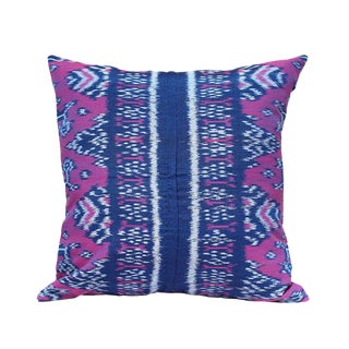 """Purple Moon"" Handwoven Ikat Pillow"
