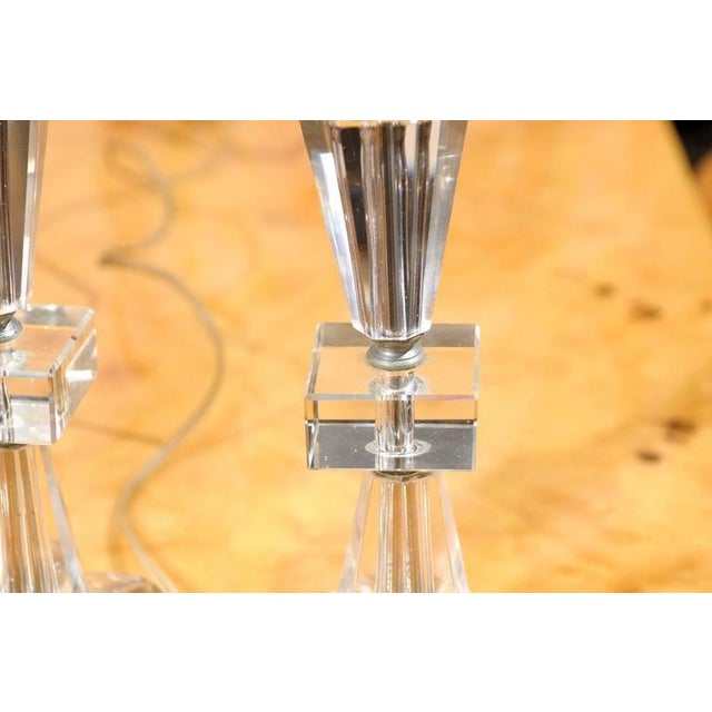 Art Deco Petite Crystal and Glass Lamps - Image 3 of 6