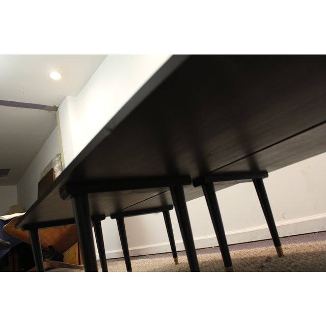 Mid Century Modern Ebonized Coffee Tables - Pair - Image 8 of 11