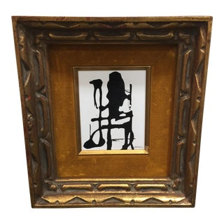 Framed Sumi Ink Painting