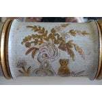 Image of Pair of Chinoiserie Painted Bamboo Style Mirrors