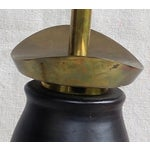 Image of Stiffel Modernist Pottery & Brass Table Lamp