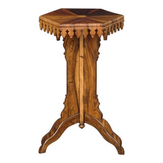 Specimen Wood Antique Pedestal Table
