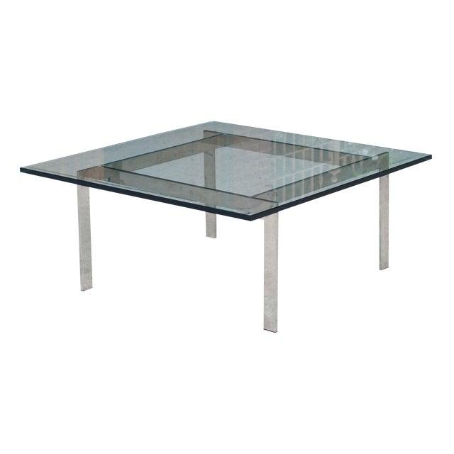Milo Baughman Chrome & Glass Coffee Table - Image 1 of 6