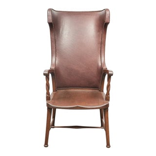 High Back Leather Upholstered Chair