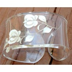 Image of Hollywood Regency Lucite Floral Napkin Rings