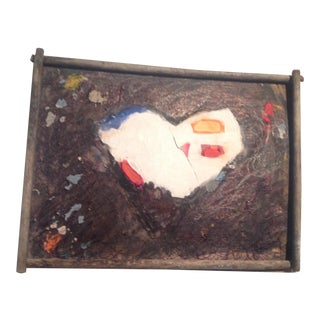 Folk Art Original Abstract Heart Painting