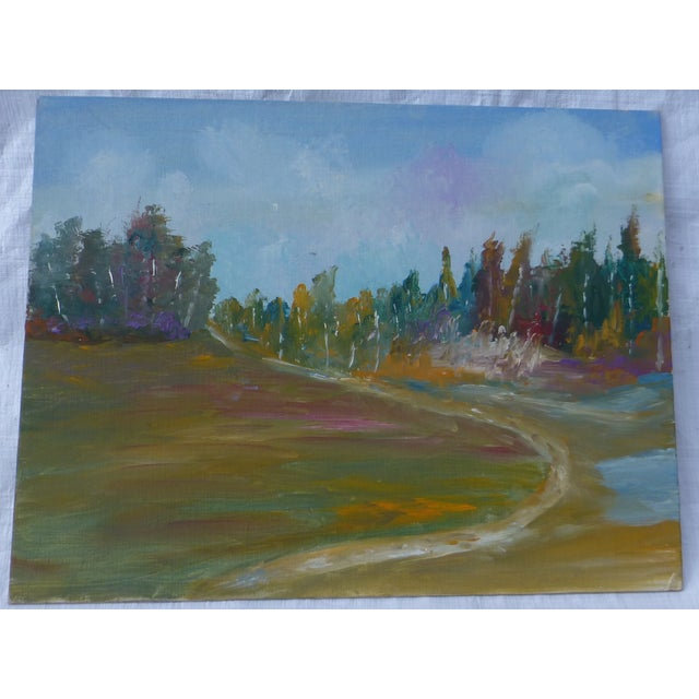 Image of MCM Painting Autumn Path H.L. Musgrave