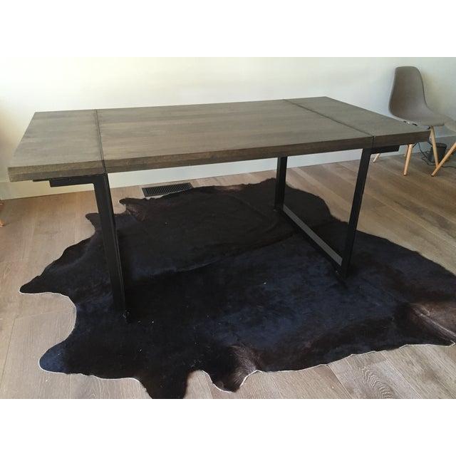 Modern Steel Base Wood Table Top - Image 5 of 5