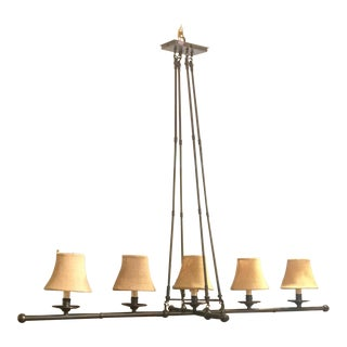 5-Light Linear Bronze Chandelier