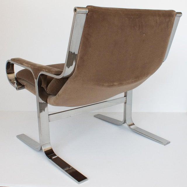 Milo Baughman Style Chrome Cantilever Lounge Chair Chairish