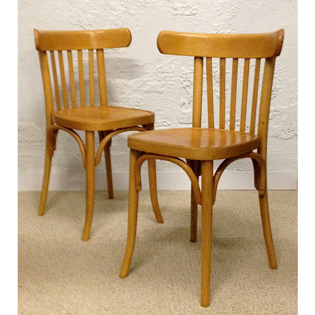 Vintage Bentwood Slat Back Chairs - A Pair - Image 2 of 5