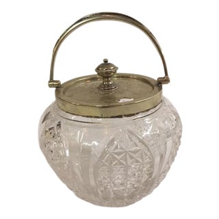 English Traditional Glass Honey Jar