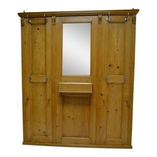 Pine Paneled Hallstand with Mirror