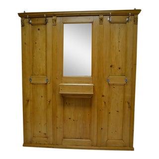 Pine Paneled Hallstand with Mirror
