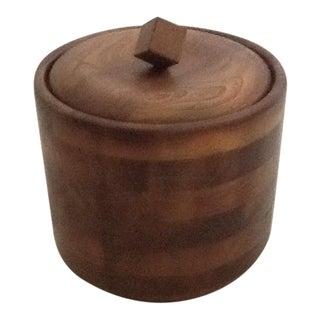 Mid-Century Wood Ice Bucket
