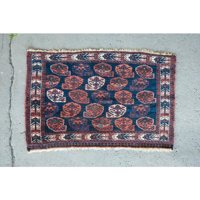 "Antique Perisan Mat Small Rug - 2'x3'2"" - Image 2 of 5"