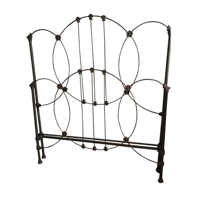 antique iron bed frame value