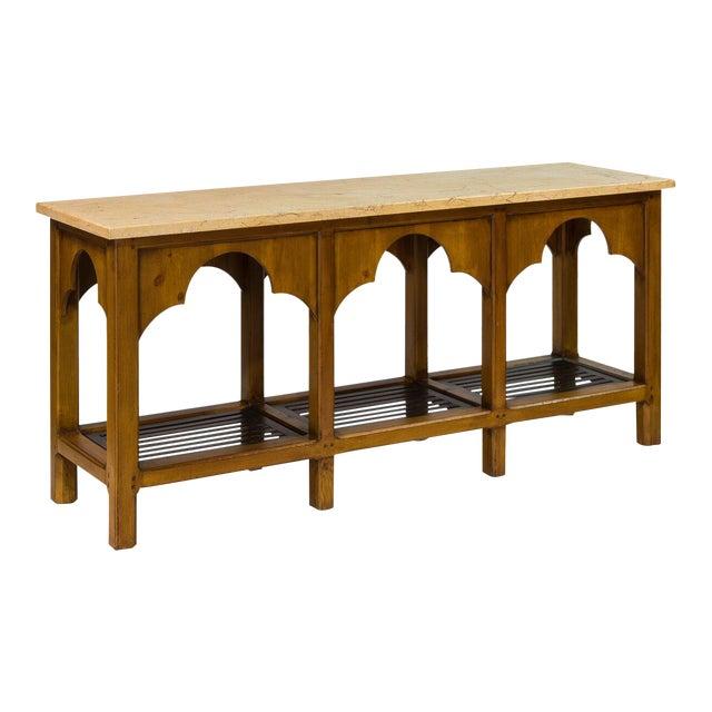 Sarreid LTD Railroad Trestle Table - Image 1 of 5