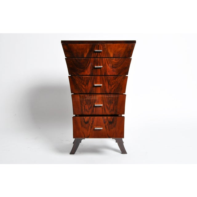 Art Deco Style Chest of Drawers with Curved Sides - Image 4 of 11