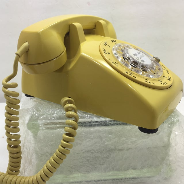 Bright Yellow Rotary Dial Telephone - Image 3 of 11