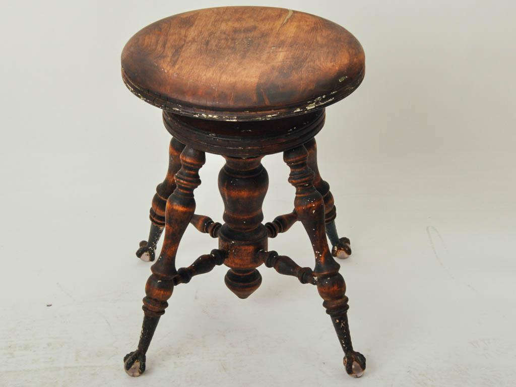 Victorian Antique Clawfoot Dark Wood Piano Stool - Image 3 of 7  sc 1 st  Chairish & Victorian Antique Clawfoot Dark Wood Piano Stool | Chairish islam-shia.org