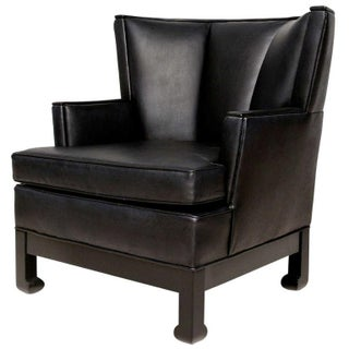 James Mont Style Lounge Wing Chair