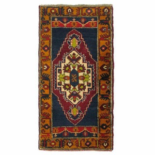 Vintage Turkish Carpet - 2' x 3'7''