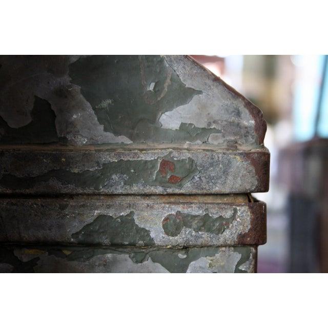 Image of Vintage Green Metal Toolbox