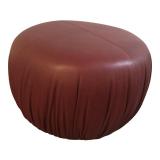 Elite Leather Pouf Ottoman