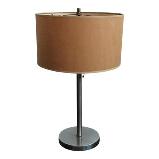 Minimalist Mid-Century Brushed Steel Lamp