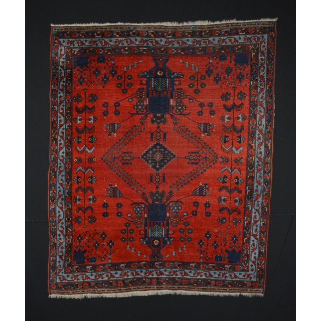 "Image of Antique Persian Afshar Rug - 4'6"" x 5'5"""