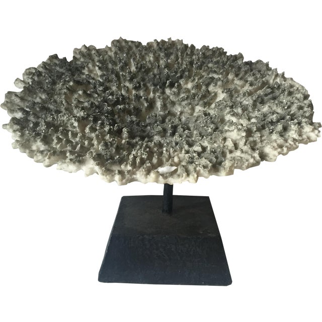 Faux Coral Specimen on Stand - Image 1 of 6