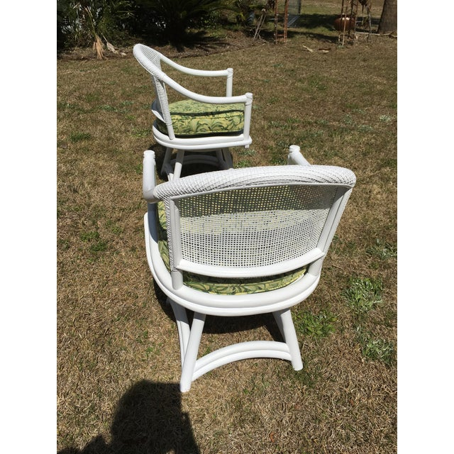 Ficks Reed Cane Swivel Chairs - A Pair - Image 7 of 10