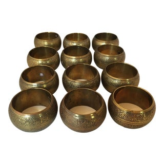 Brass Napkin Rings - Set of 12
