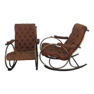 Vintage Woodard Rocking Lounge Chairs - A Pair