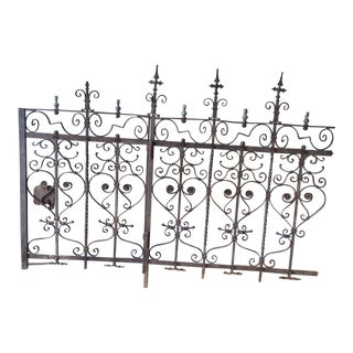 Antique Wrought Iron Fence with Gate