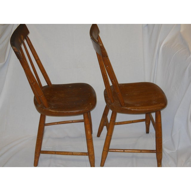 Antique Traditional Wooden Chairs - A Pair - Image 4 of 6