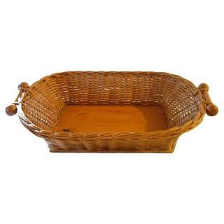 Double Handle Wicker Basket