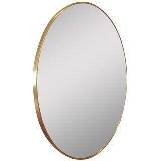 "Rejuvenation 36"" Oval Mirror in Aged Brass"