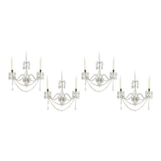 Two Pair of Exceptional F. & C. Osler Crystal Sconces