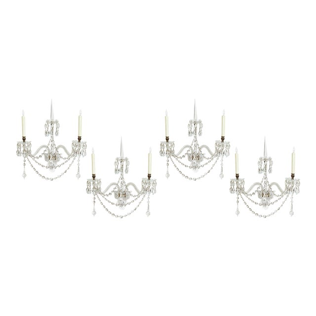 Two Pair of Exceptional F. & C. Osler Crystal Sconces - Image 1 of 11