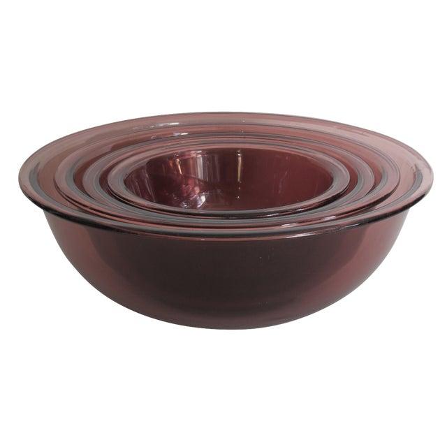 Purple Nesting Pyrex Bowls, Set of 4 - Image 1 of 7