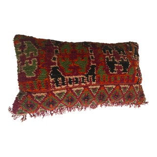 Vintage Moroccan Stuffed Wool Pillow
