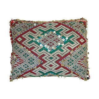 Wool & Sequin Moroccan Berber Sham Pillow