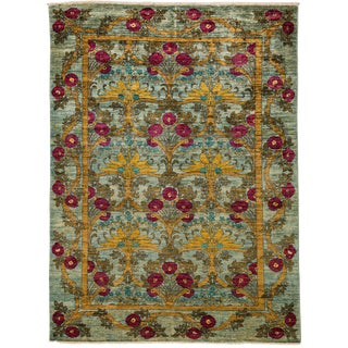 """Arts & Crafts Hand Knotted Area Rug - 6'0"""" X 8'7"""""""